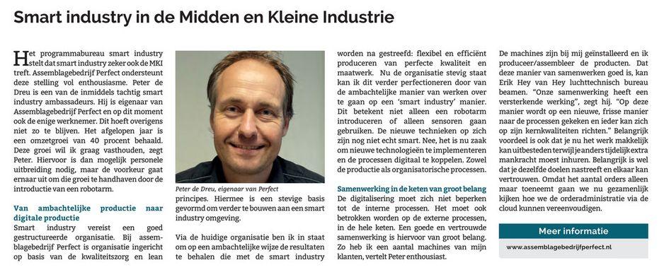 Smart Industry in de Midden en Kleine Industry